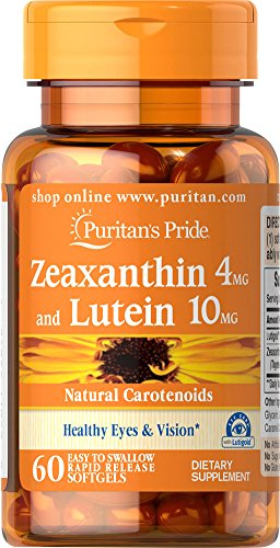 Puritan's Pride Zeaxanthin 4mg with Lutein 10mg-60 Softgels