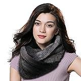 URSFUR Winter Ladies Scarves Real Mink Snood Fur Infinity Scarf Multicolor