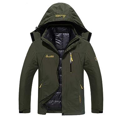 d1dc9989d1228 WANPUL 3 in 1 Jacke Herren Softshell Jacke Damen Wasserdicht Wanderjacke  Atmungsaktiv Funktionsjacke Outdoor Skijacke Warm