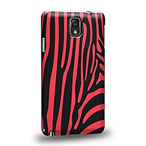 Case88 Premium Designs Art Animals Print Design Collections Magenta Zebra Protective Snap-on Hard Back Case Cover for Samsung Galaxy Note 3