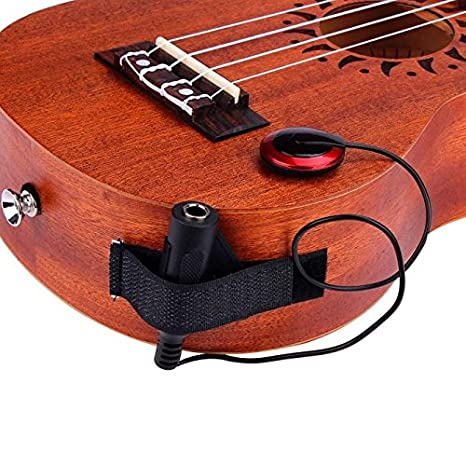 Sujetador de guitarra con clip ♪ Pastilla acústica de micrófono de contacto piezoeléctrico para guitarra violín mandolina ukelele♪digital para ukelele ...