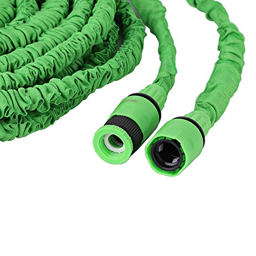 MAXZONE ALL NEW 2017 Garden Hose 100 Feet Expandable Hose With All Brass Connectors, 8 Pattern Spray Nozzle And High Pressure, {IMPROVED} Expanding Garden Hose