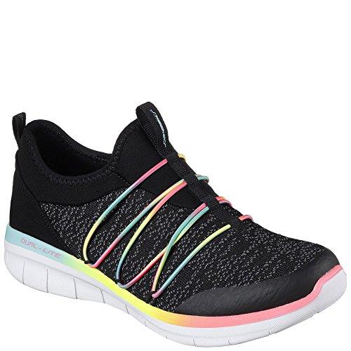 sin 0 Simply Zapatillas para Multi 2 Cordones Skechers Synergy Negro Mujer Chic CqfxYqRw