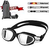 Swimming Goggles for Men/Women, Polarized Anti-Glare Anti-Fog UV Protection Mirrored Wide Vision Adult