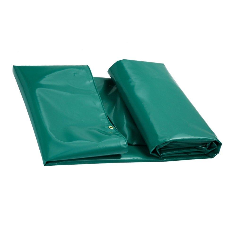 YX-Planen Mehrzweck Plane Starke Wasserdichte Plane PVC Bodenplane Abdeckungen Outdoor Camping Cover - 100% wasserdicht und UV-geschützt - 650 g m² - Dicke 0,6 mm - Grün Schutzplane (größe   3MX2M)