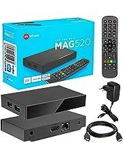MAG 520 Original Infomir & HB-DIGITAL 4K IPTV Set TOP Box Multimedia Player Internet TV IP Receiver # 4K UHD 60FPS 2160p @60 FPS HDMI 2.0# HEVC H.256 Ondersteuning # ARM Cortex-A53 + HDMI-kabel.