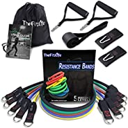 TheFitLife Exercise and Resistance Bands Set - Stackable up to 150 lbs Workout Tubes for Indoor and Outdoor Sp