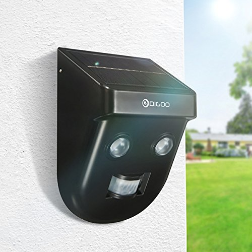 LEEPRA Gardening Solar Wireless PIR Sensor Long Distance Waterproof Outdoors Wall Light by LEEPRA