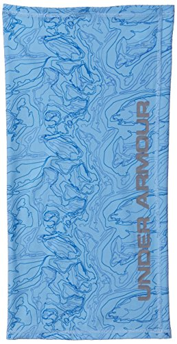 Under Armour Outerwear Unisex Fish Neck Gaiter, Carolina Blue (475)/Steel, One Size Fits All