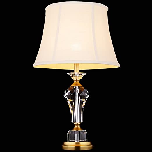 UK Living Room Table European Lamp Table Lamps Bedroom LampsColorLarge Full Crystal Bedside Modern American Desk TOYM Copper dxBeCo