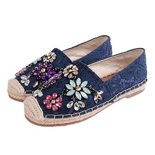 Chaussures Espadrij Marron Avec Entrée Pour Femmes AP1lt