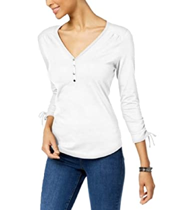 88abfffa729bf Karen Scott Cotton Henley T-Shirt at Amazon Women s Clothing store