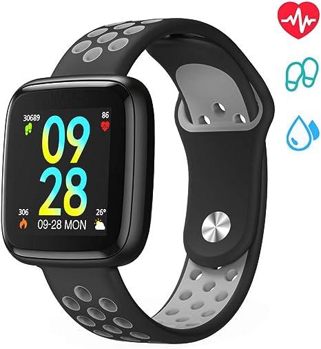 Orologio Smart Watch, Smartwatch Android iOS Fitness Tracker Intelligente Uomo Donna Bluetooth Braccialetto Fitness Sport Cardiofrequenzimetro da
