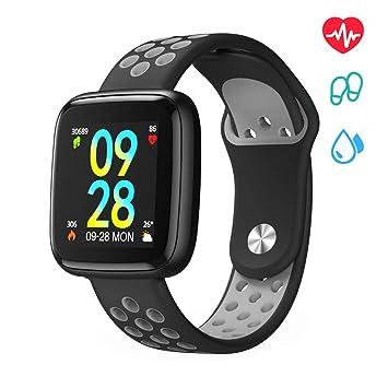 Smartwatch,Relojes Inteligentes,Pulsera Actividad Inteligente para Reloj Deportivo Impermeable IP68 Pantalla Color,Reloj Inteligente Hombre Mujer para ...