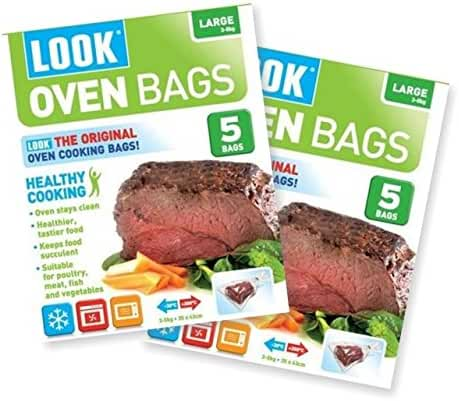 LOOK Healthy Cooking Oven Bags Large 3-5kg 5 Bags