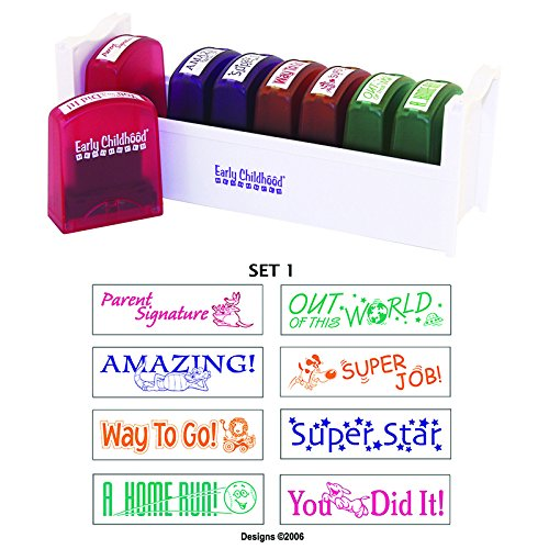 EARLY CHILDHOOD RESOURCES LLC SELF-INKING TEACHER STAMPS SET 1 (Set of 3)