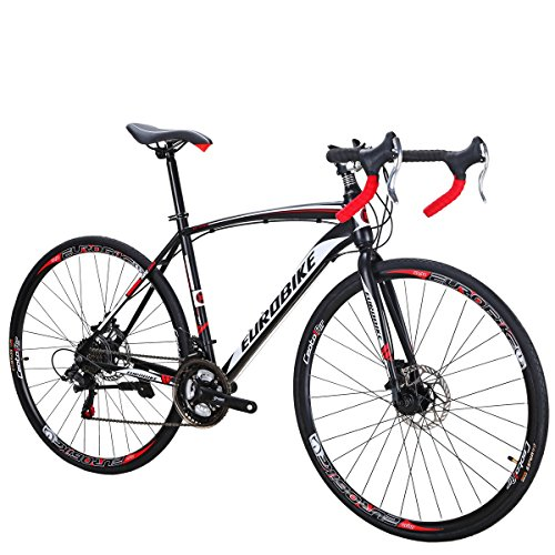 Eurobike Road Bike TSM550 Bike 21 Speed Dual Disc Brake 700C Wheels Road Bicycle 49cm Spoke Wheel