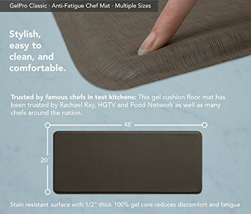 """GelPro Classic Anti-Fatigue Kitchen Comfort Chef Floor Mat, 20x48"""", Linen Granite Gray Stain Resistant Surface with 1/2"""" Gel Core for Health and Wellness by GelPro (Image #3)"""