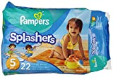 Pampers Splashers, Disposable Swim Pants, Size 5 Diapers, 22 Count (Pack of 6)