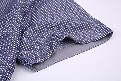 GOEPP Short Sleeve Shirts for Men Plaid Casual Shirt, Slim Fit