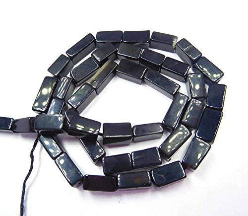 "13"" Strand Black Onyx Natural Gemstone Plain Square Shape Loose Beads Square Beads, Beads, Cube Beads, Square Bead,Spacer Beads, Square, 0.40-0.50 MM by Gemswholesale"
