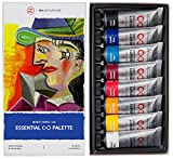 Professional Oil Paints Set - 8 x Large 45ml Tubes - Essential Palette for Artists, Eco-Friendly, Non-Toxic, and Lightfast Paint with Exceptional Pigment Load - The Infinity Series by ZenART