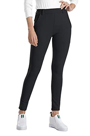 ee6c15ce3b13c0 Balleay Art Women's Yoga Dress Pants Tummy Control Stretch Slim Ankle Fit Skinny  Leggings, Black