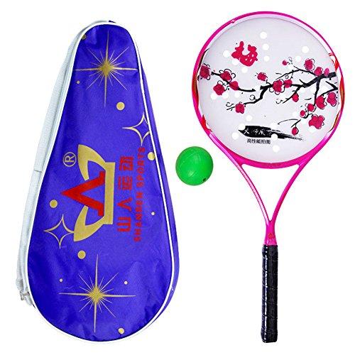 ShanRen Sports Carbon Soft Ball Rouli Racket with Flower Des