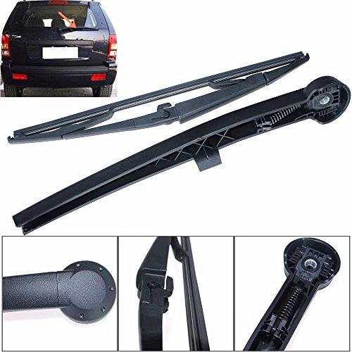 KingFurt Rear Windshield Back Wiper Arm Blade Set for JEEP Grand Cherokee 2005 2006 2007 2008 2009 2010 # (Fiberglass Windshield Frame)