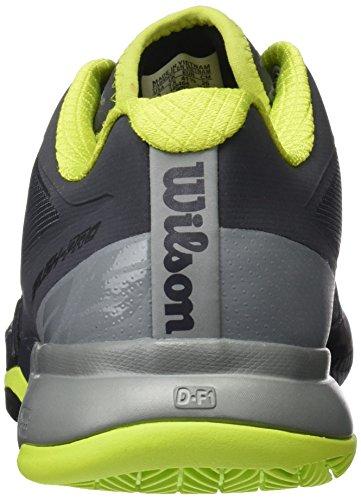 Wilson Herren Rush Pro 2.0 Clay Court Tennisschuhe Grau (Ebony / Monument / Lime Punch)