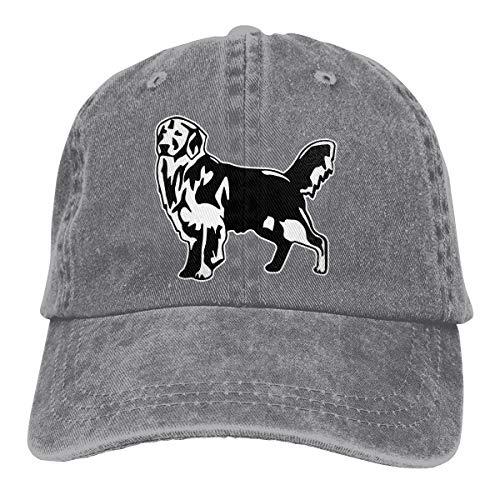 2 Pack Golden Retriever Dog Adjustable Baseball Caps Denim Hat Trucker Cap for Adult