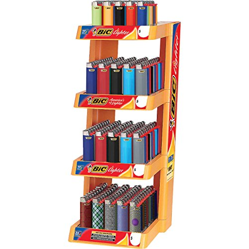 BIC 4-Tier Lighter Display Rack WHOLESALE LOT - 200 ct by BIC
