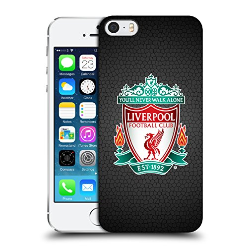 Official Liverpool FC LFC Black Pixel 1 LFC Crest 2 Hard Back Case Cover for Apple iPhone 5 / 5s