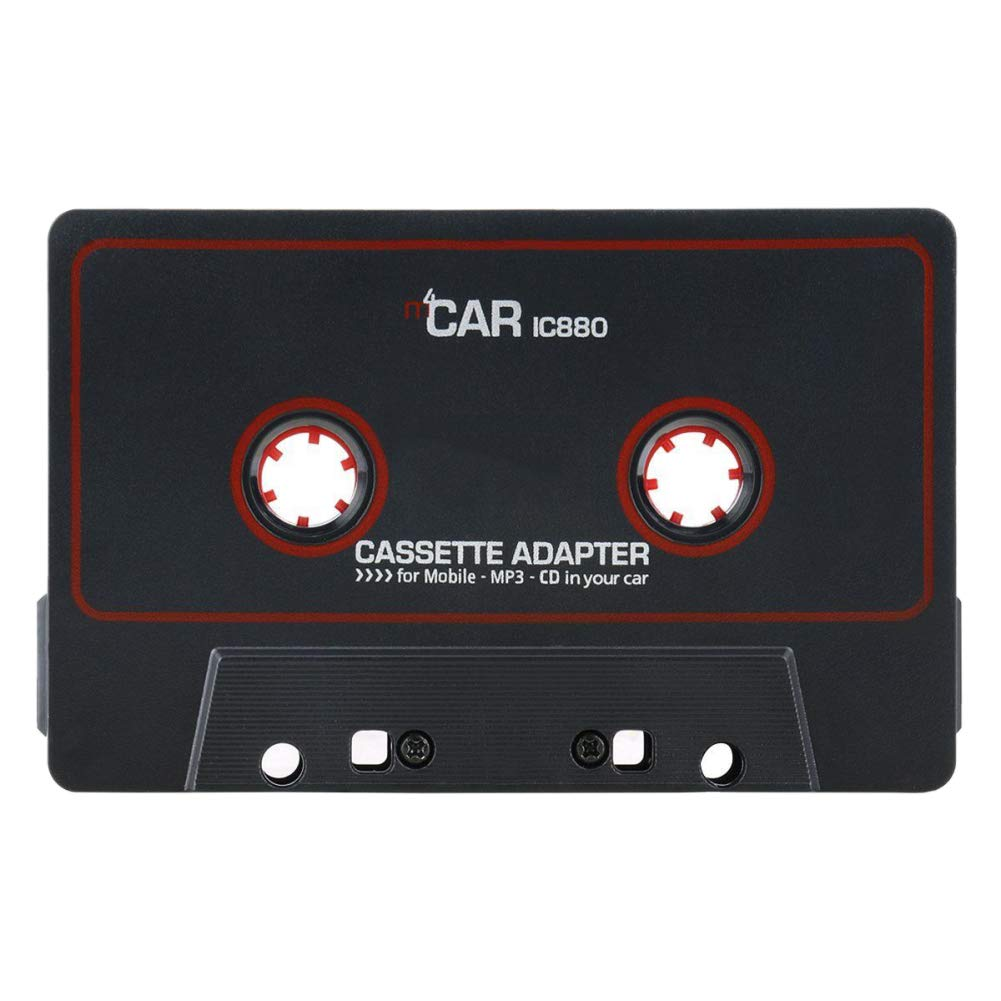 Grebest Travel Cassette Adapter Car Electrical Appliances Adapter Retro Music Converter MP3 Smartphones Travel Cassette Adapter Tape for Cars Black