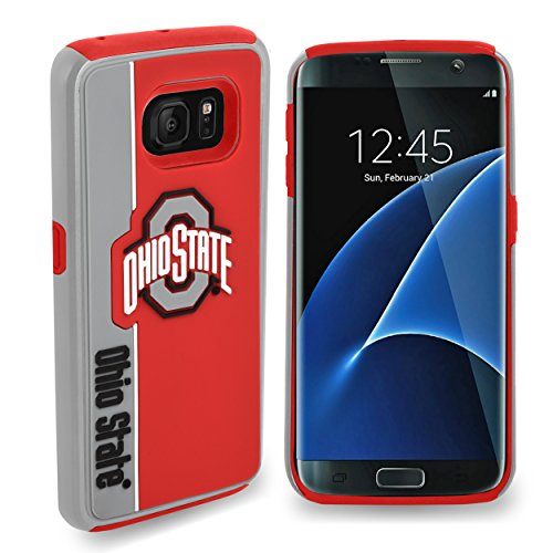 Forever Collectibles Samsung Galaxy S7 Edge Dual Hybrid Bold Case - NCAA Ohio State