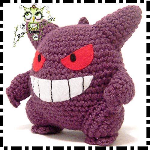 GENGAR POKEMON, REGALO NAVIDAD, AMIGURUMI REGALO PERSONALIZABLE (Bebé, crochet, ganchillo,
