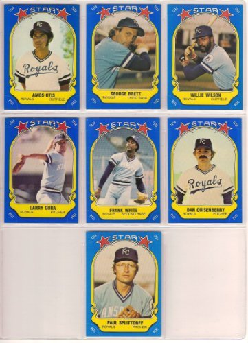 - Kansas City Royals 1981 Fleer Star Sticker Baseball Team Set (George Brett) (Willie Wilson) (Frank White) (Dan Quisenberry) (Amos Otis) (Larry Gura) (Paul Splittorff)