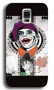 Samsung Galaxy S5 Case Cover,Joker Card Custom PC+ABS Plastic Hard Case Back Cover for Samsung Galaxy S5 Black