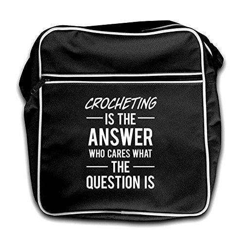 Black Retro Flight Bag Red Answer Crocheting Is The qwtSZ10