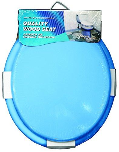 Aqua Plumb Aqua Plumb Cts100bl Round Wood Toilet Seat