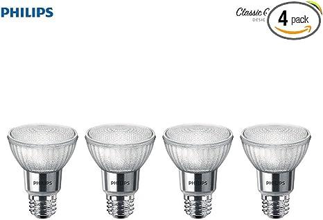 6-Pack E26 Base Philips LED PAR20 Daylight Light Bulb: 400-Lumen 6-Watt Glass 5000-Kelvin Dimmable 40-Degree Spot Light Bulb 50-Watt Equivalent