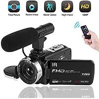 Video Camera Camcorder 1080P Digital Camera Night Vision...