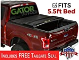 Gator ETX Soft Tri-Fold Truck Bed Tonneau Cover | 59312 | fits Ford F-150 2015-19 5 1/2 ft bed | MADE IN THE USA