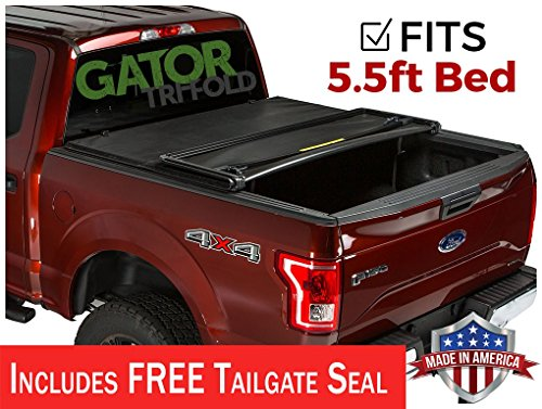 Ford F150 Tonneau - Gator ETX Soft Tri-Fold Truck Bed Tonneau Cover | 59312 | fits Ford F-150 2015-19 (5 1/2 ft bed)