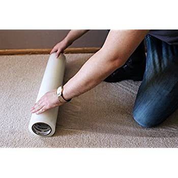 AUWEG Carpet Protector Film 24u0027u0027 X 200u0027   Clear Self Adhesive Plastic  Protection