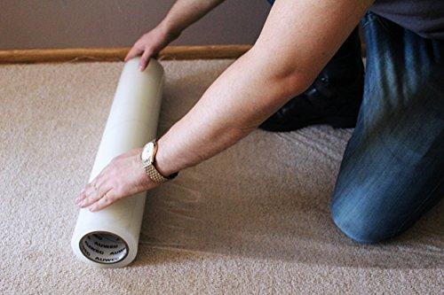 AUWEG Carpet Protector Film 24'' x 200' - Clear Self Adhe...