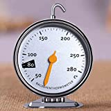 Cooker Thermometer Temperature Gauge Hanging Stainless Steel Oven Baking Cooking Tools MTS