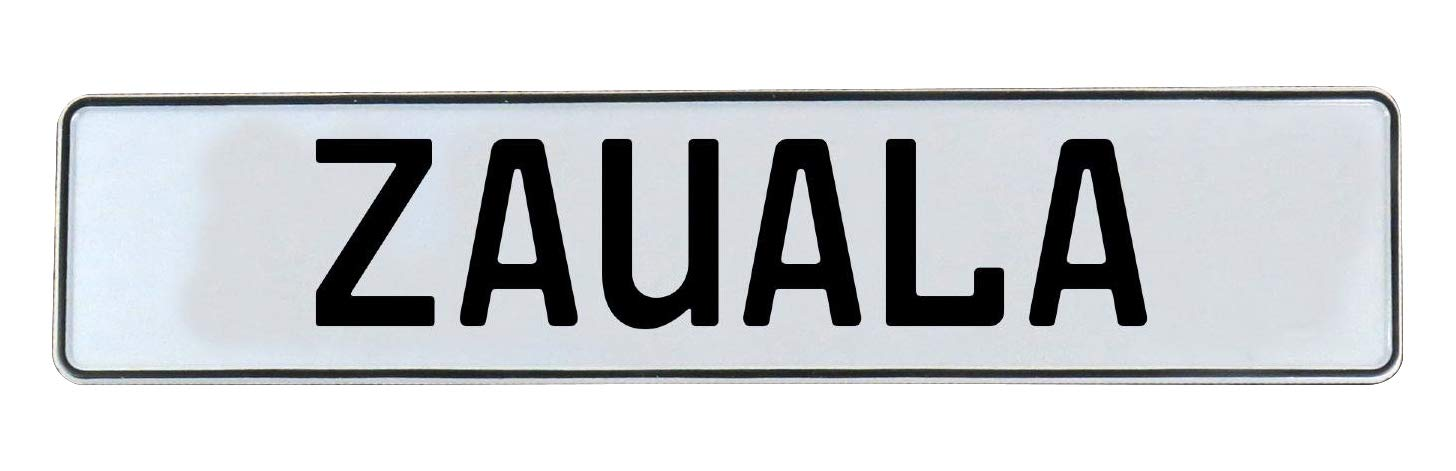 Vintage Parts 778614 Wall Art Zauala White Stamped Aluminum Street Sign Mancave