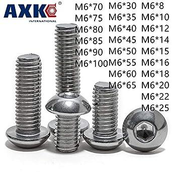 Amazon.com: Tornillos M6 ISO7380 304 de acero inoxidable ...