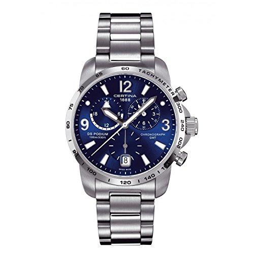 Certina DS Podium GMT Stainless Steel Mens Quartz Watch C0016391104700